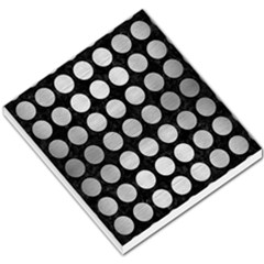 Circles1 Black Marble & Silver Brushed Metal Small Memo Pads