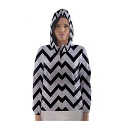 CHV9 BK MARBLE SILVER (R) Hooded Wind Breaker (Women) by trendistuff