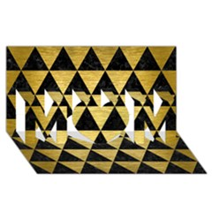 Triangle3 Black Marble & Gold Brushed Metal Mom 3d Greeting Card (8x4) by trendistuff