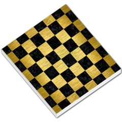 Square1 Black Marble & Gold Brushed Metal Small Memo Pads