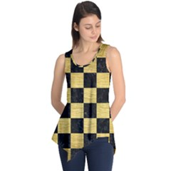 Square1 Black Marble & Gold Brushed Metal Sleeveless Tunic by trendistuff