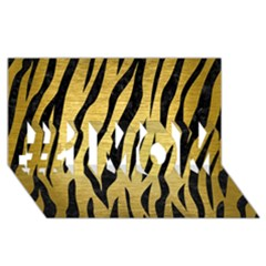 Skin3 Black Marble & Gold Brushed Metal (r) #1 Mom 3d Greeting Cards (8x4)