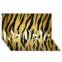 Skin3 Black Marble & Gold Brushed Metal (r) Believe 3d Greeting Card (8x4) by trendistuff