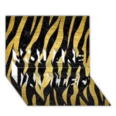 Skin3 Black Marble & Gold Brushed Metal You Are Invited 3d Greeting Card (7x5)