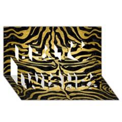 Skin2 Black Marble & Gold Brushed Metal Best Wish 3d Greeting Card (8x4) by trendistuff