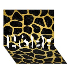 Skin1 Black Marble & Gold Brushed Metal (r) Hope 3d Greeting Card (7x5) by trendistuff