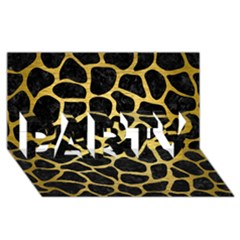 Skin1 Black Marble & Gold Brushed Metal (r) Party 3d Greeting Card (8x4)