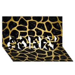 Skin1 Black Marble & Gold Brushed Metal (r) Sorry 3d Greeting Card (8x4) by trendistuff