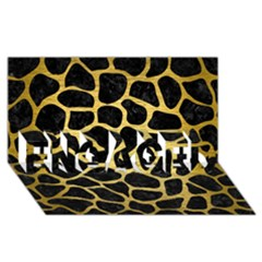 Skin1 Black Marble & Gold Brushed Metal (r) Engaged 3d Greeting Card (8x4)