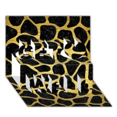 Skin1 Black Marble & Gold Brushed Metal (r) Get Well 3d Greeting Card (7x5)