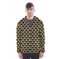 SCA3 BK MARBLE GOLD Hooded Wind Breaker (Men) by trendistuff