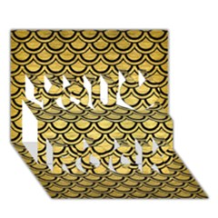 Scales2 Black Marble & Gold Brushed Metal (r) You Rock 3d Greeting Card (7x5)
