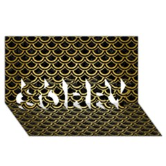 Scales2 Black Marble & Gold Brushed Metal Sorry 3d Greeting Card (8x4) by trendistuff