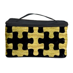 Puzzle1 Black Marble & Gold Brushed Metal Cosmetic Storage Case by trendistuff