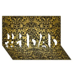 Damask2 Black Marble & Gold Brushed Metal (r) #1 Dad 3d Greeting Card (8x4)