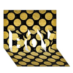 Circles2 Black Marble & Gold Brushed Metal Boy 3d Greeting Card (7x5)