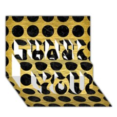 Circles1 Black Marble & Gold Brushed Metal (r) Thank You 3d Greeting Card (7x5)
