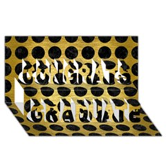 Circles1 Black Marble & Gold Brushed Metal (r) Congrats Graduate 3d Greeting Card (8x4)
