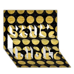 Circles1 Black Marble & Gold Brushed Metal You Did It 3d Greeting Card (7x5)