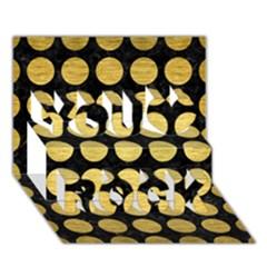 Circles1 Black Marble & Gold Brushed Metal You Rock 3d Greeting Card (7x5)