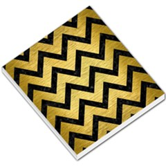 Chevron9 Black Marble & Gold Brushed Metal (r) Small Memo Pads