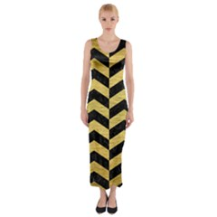 CHV2 BK MARBLE GOLD Fitted Maxi Dress by trendistuff
