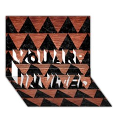 Triangle2 Black Marble & Copper Brushed Metal You Are Invited 3d Greeting Card (7x5) by trendistuff