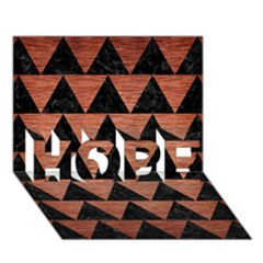 Triangle2 Black Marble & Copper Brushed Metal Hope 3d Greeting Card (7x5)