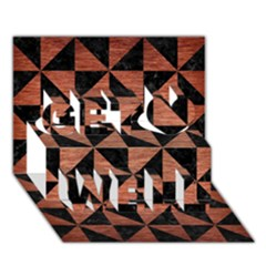 Triangle1 Black Marble & Copper Brushed Metal Get Well 3d Greeting Card (7x5) by trendistuff