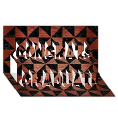 Triangle1 Black Marble & Copper Brushed Metal Congrats Graduate 3d Greeting Card (8x4)