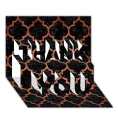 Tile1 Black Marble & Copper Brushed Metal Thank You 3d Greeting Card (7x5) by trendistuff