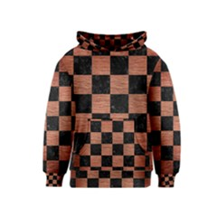 Square1 Black Marble & Copper Brushed Metal Kids  Pullover Hoodie by trendistuff