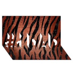 Skin3 Black Marble & Copper Brushed Metal (r) #1 Dad 3d Greeting Card (8x4)