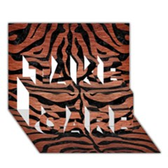 Skin2 Black Marble & Copper Brushed Metal (r) Take Care 3d Greeting Card (7x5)