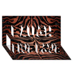 Skin2 Black Marble & Copper Brushed Metal Laugh Live Love 3d Greeting Card (8x4) by trendistuff