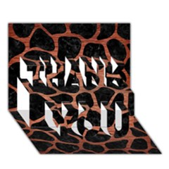 Skin1 Black Marble & Copper Brushed Metal (r) Thank You 3d Greeting Card (7x5) by trendistuff