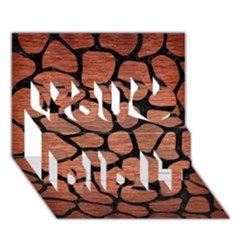 Skin1 Black Marble & Copper Brushed Metal You Did It 3d Greeting Card (7x5)