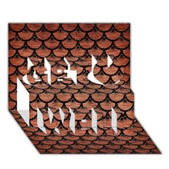 Scales3 Black Marble & Copper Brushed Metal (r) Get Well 3d Greeting Card (7x5)