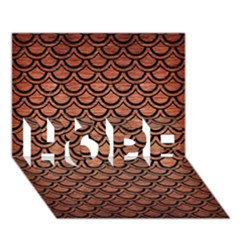 Scales2 Black Marble & Copper Brushed Metal (r) Hope 3d Greeting Card (7x5)