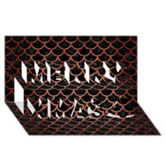 Scales1 Black Marble & Copper Brushed Metal Merry Xmas 3d Greeting Card (8x4) by trendistuff