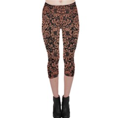 DMS2 BK MARBLE COPPER Capri Leggings  by trendistuff