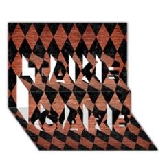 Diamond1 Black Marble & Copper Brushed Metal Take Care 3d Greeting Card (7x5) by trendistuff