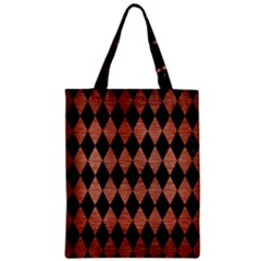 Diamond1 Black Marble & Copper Brushed Metal Zipper Classic Tote Bag by trendistuff