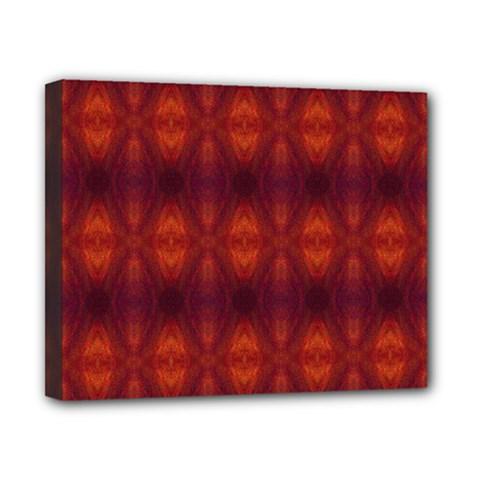 Brown Diamonds Pattern Canvas 10  X 8  by Costasonlineshop