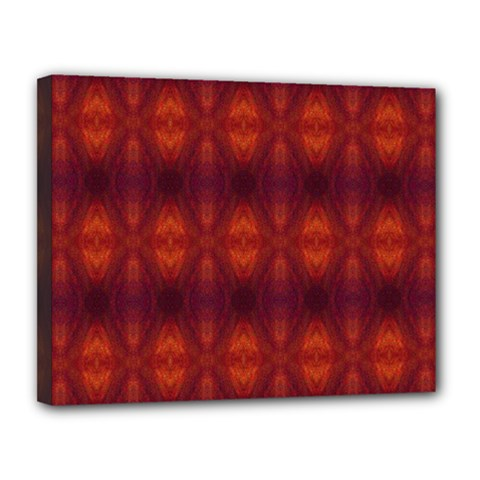 Brown Diamonds Pattern Canvas 14  X 11