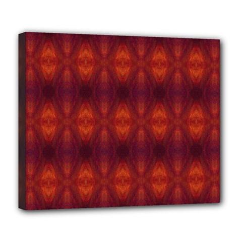 Brown Diamonds Pattern Deluxe Canvas 24  X 20   by Costasonlineshop