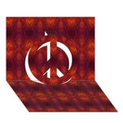 Brown Diamonds Pattern Peace Sign 3d Greeting Card (7x5)  by Costasonlineshop
