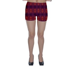 Brown Diamonds Pattern Skinny Shorts by Costasonlineshop