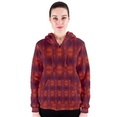 Brown Diamonds Pattern Women s Zipper Hoodie by Costasonlineshop