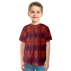 Brown Diamonds Pattern Kid s Sport Mesh Tee by Costasonlineshop